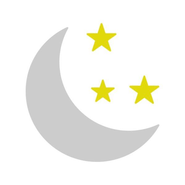 Moon Icon Creative Design Template