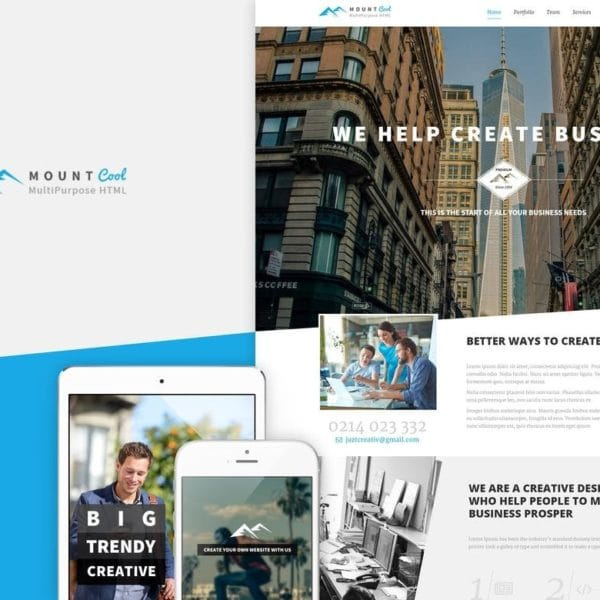 Mountcool - Creative OnePage Multipurpose Template