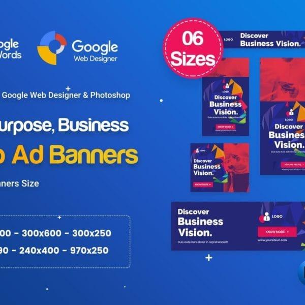 Multi-Purpose Banners HTML5 D68 - GWD & PSD
