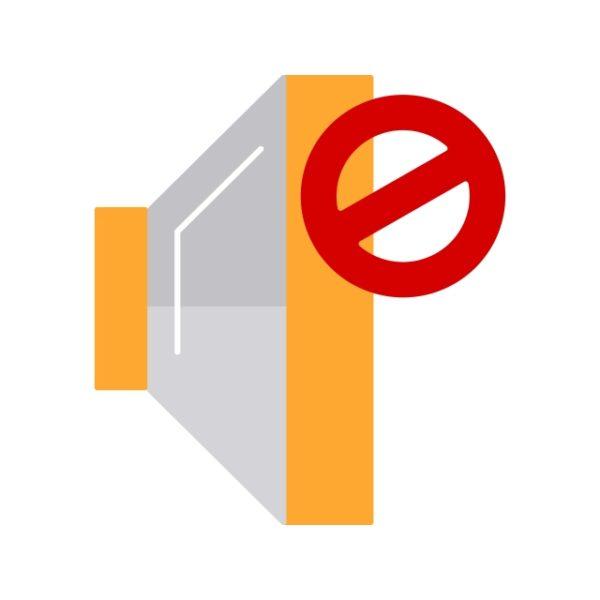 Mute Icon Creative Design Template