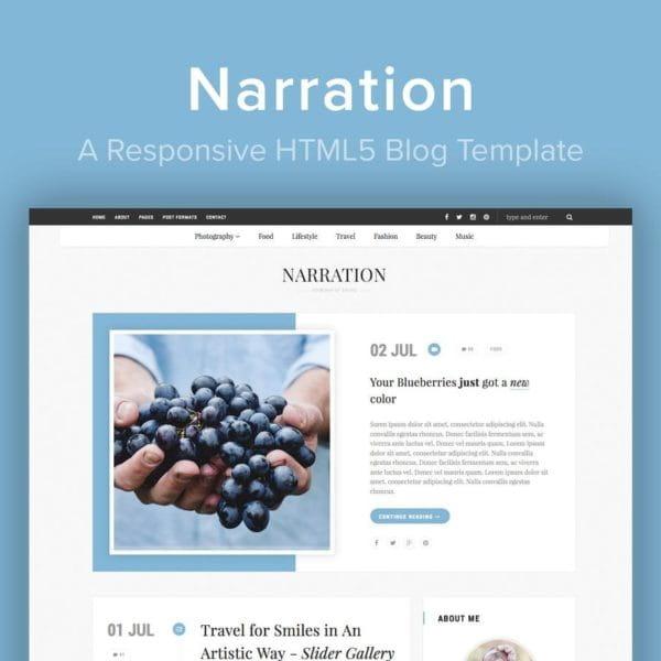 Narration - A Responsive HTML5 Blog Template
