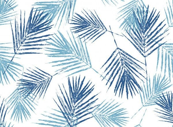 Natural blue palm leaves
