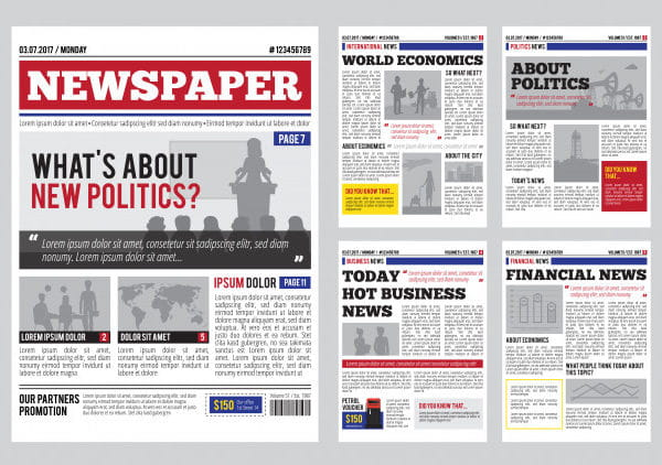 Newspaper design template
