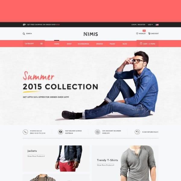 Nimis - eCommerce Shop HTML Template