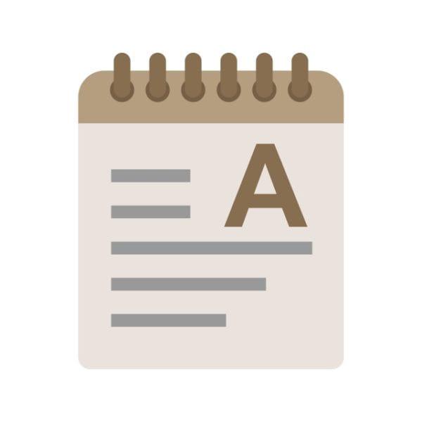 Notepad Icon Creative Design Template