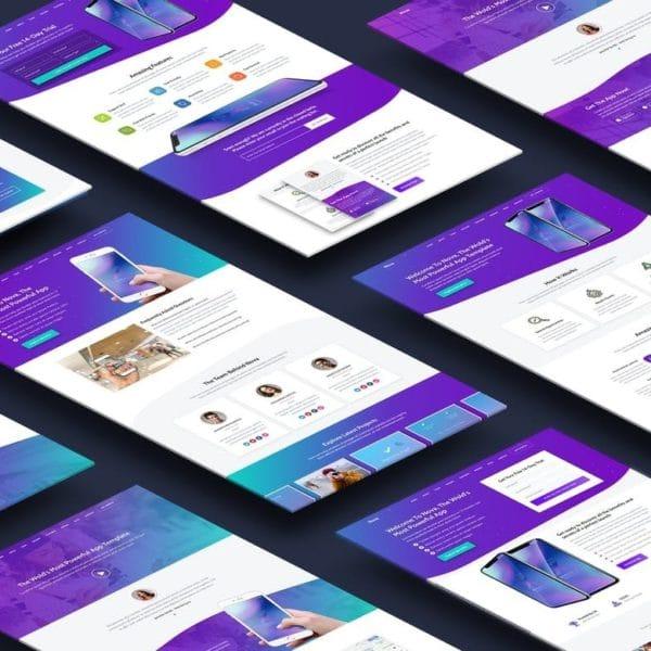 Nova - Premium App Landing Page Template