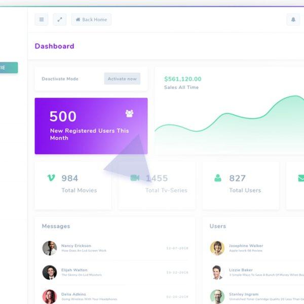 Nutflix - Bootstrap Admin Template