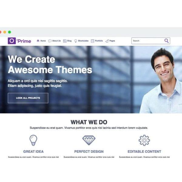 O'prime Multi Purpose Responsive HTML Template
