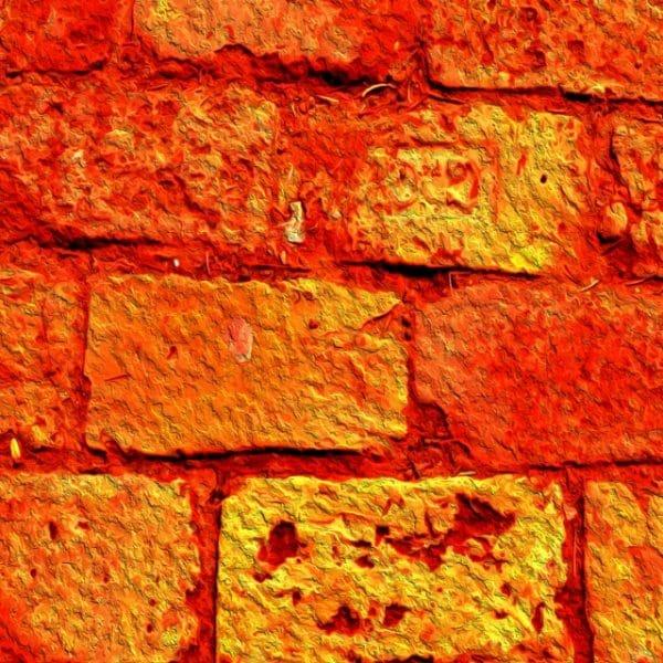 Orange Brick Background Textures With A Yellow Shine
