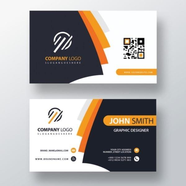 Orange Elegant Corporate Card (Turbo Premium Space)