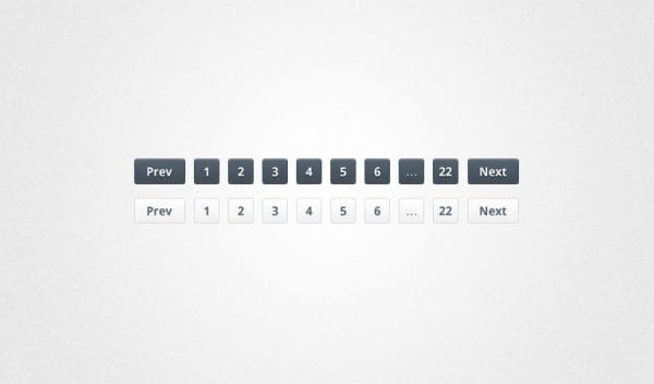 Pagination buttons in black