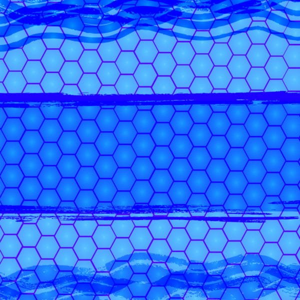 Simple Blue Honeycomb Pattern Background