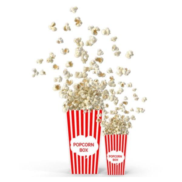 Popcorn Box Mockup (Turbo Premium Space)
