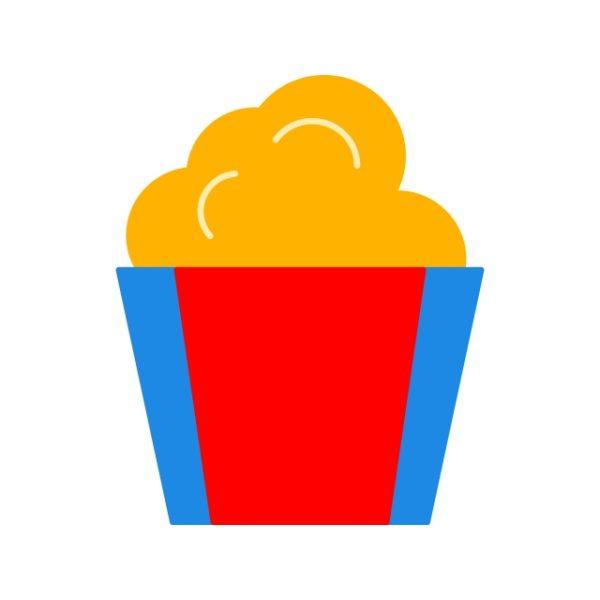 Popcorn Icon Creative Design Template