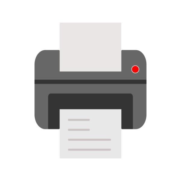 Printer Icon Creative Design Template