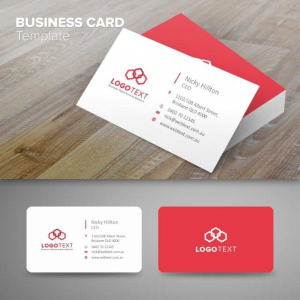 Professional Business Card Red