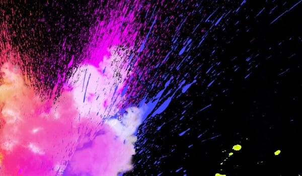 Pure Color Pigment Inkjet Splash Cool Background