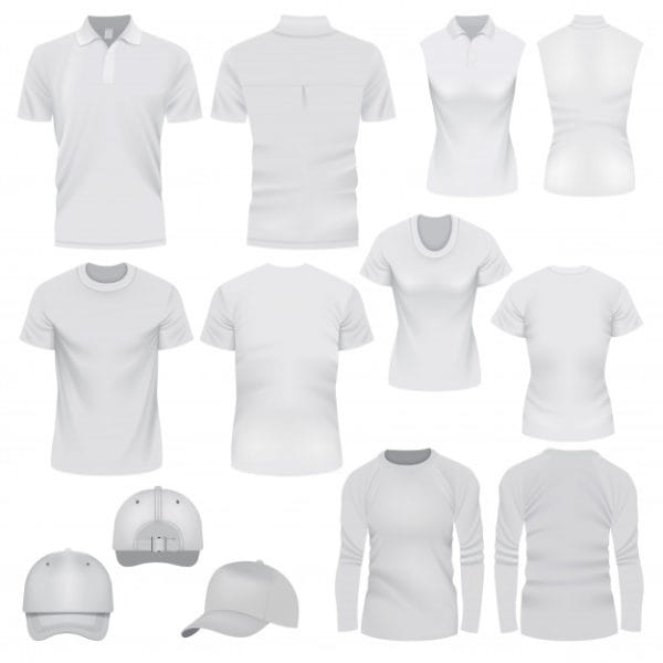 Realistic illustration of t-shirt (Turbo Premium Space)