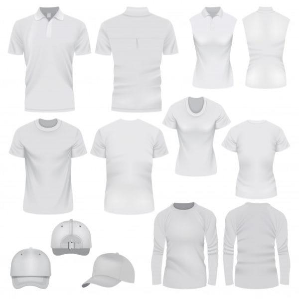 Realistic illustration of t-shirt