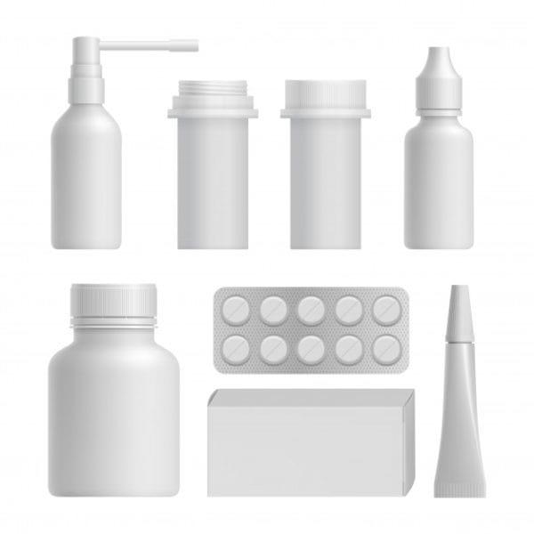 Realistic medical bottle mock up (Turbo Premium Space)