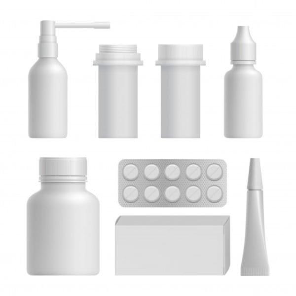 Realistic medical bottle mock up