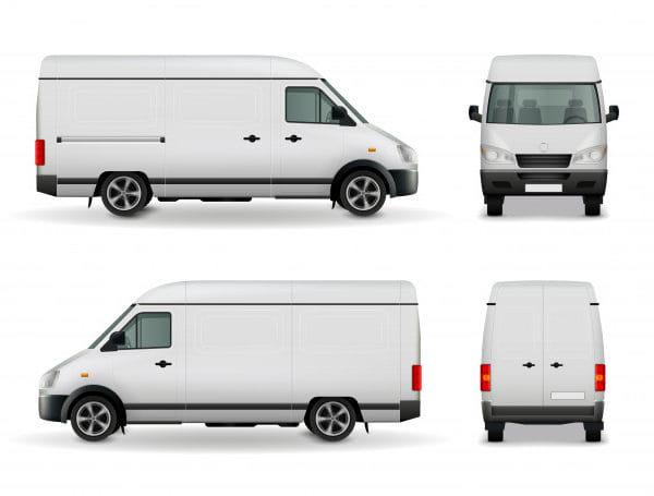 Realistic white cargo van (Turbo Premium Space)