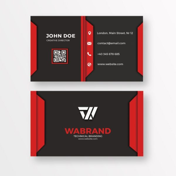Red And Black Business Card (Turbo Premium Space)