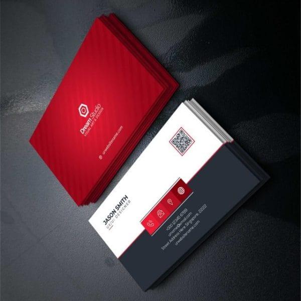 Red Elegant Corporate Card (Turbo Premium Space)