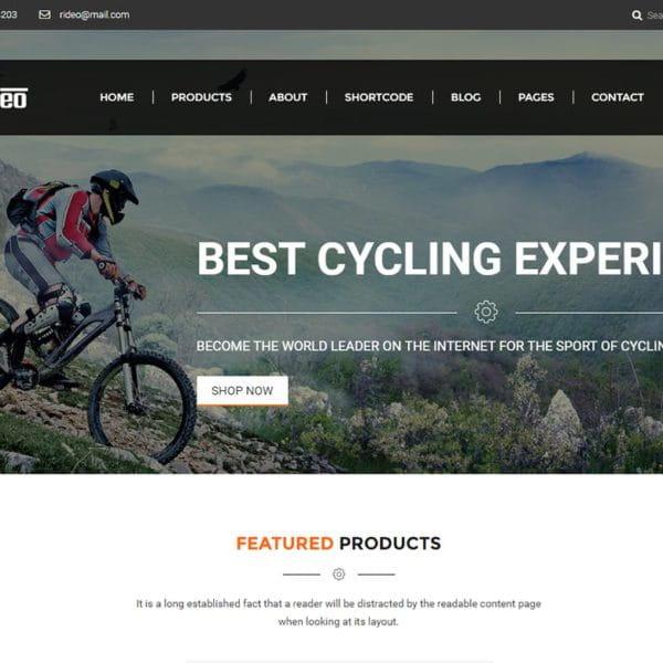 Rideo - Mountain Biking eCommerce Template