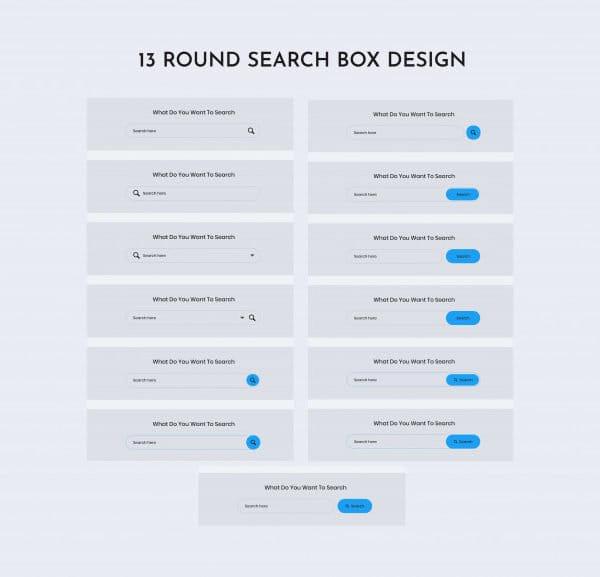 Round search web ui kit (Turbo Premium Space)