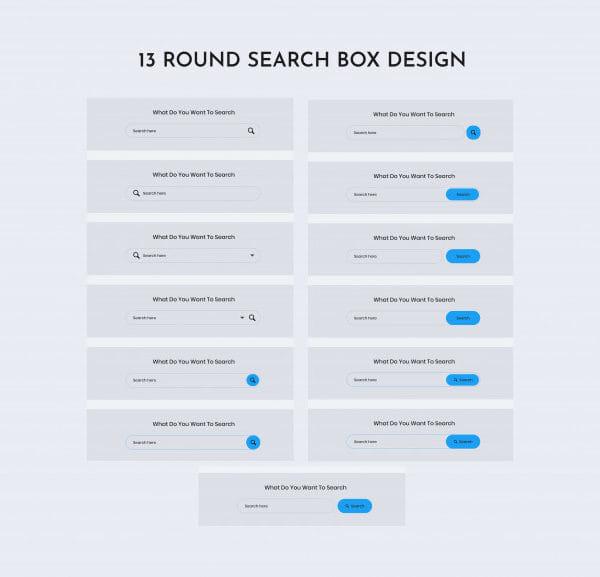 Round search web ui kit