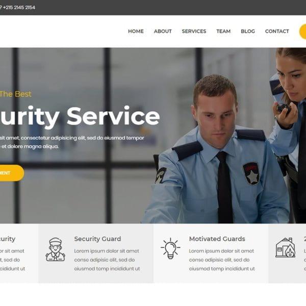 SafZon - Security Guard Bootstrap 4 Template