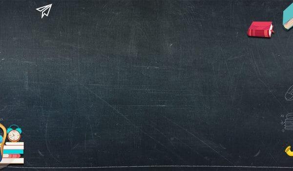 School Season Welcome New Students Blackboard Hand Painted