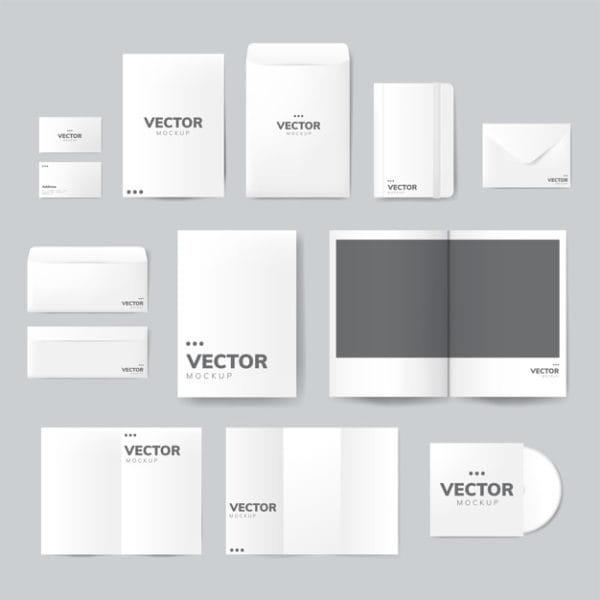 Set of printing material designs