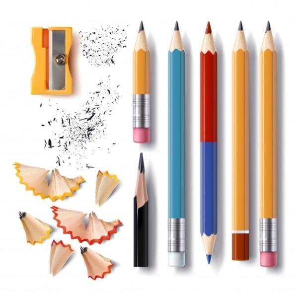 Set of vector sharpened pencils