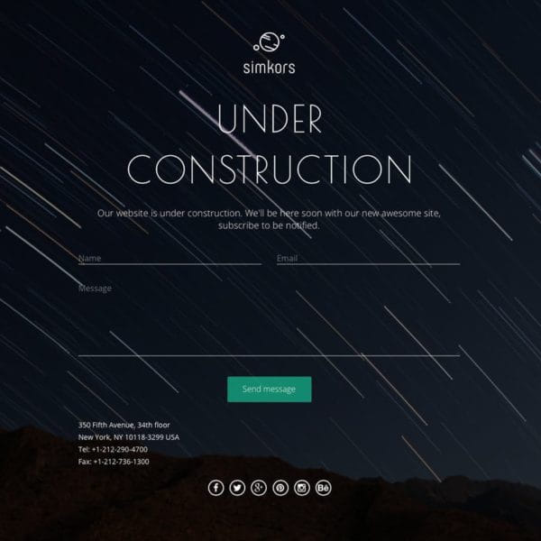 SimKors — Coming Soon & Maintenance Mode Template