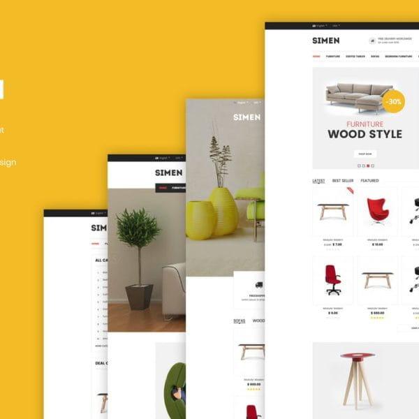 Simen - Responsive eCommerce Bootstrap Template