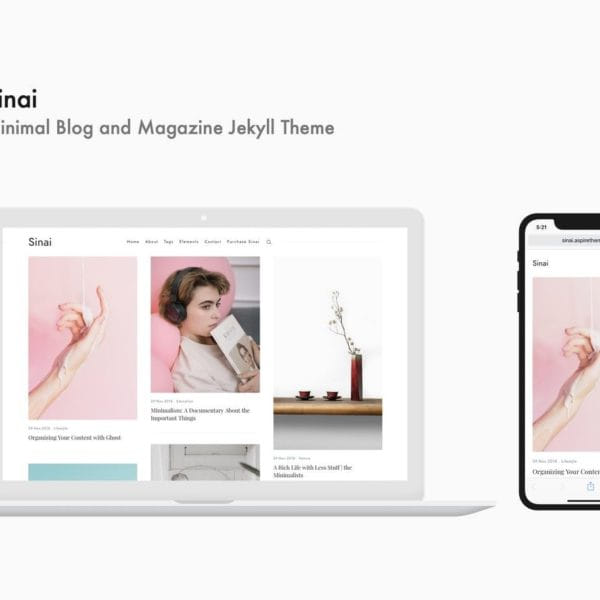 Sinai - Minimal Blog and Magazine Jekyll Theme