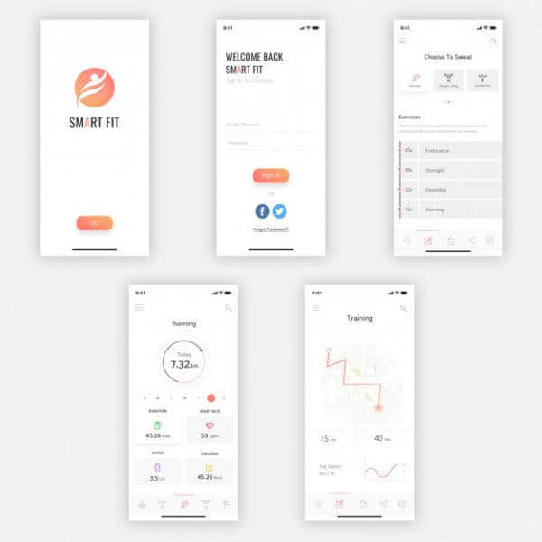 Smart mobile ui kit Premium Psd (Turbo Premium Space)
