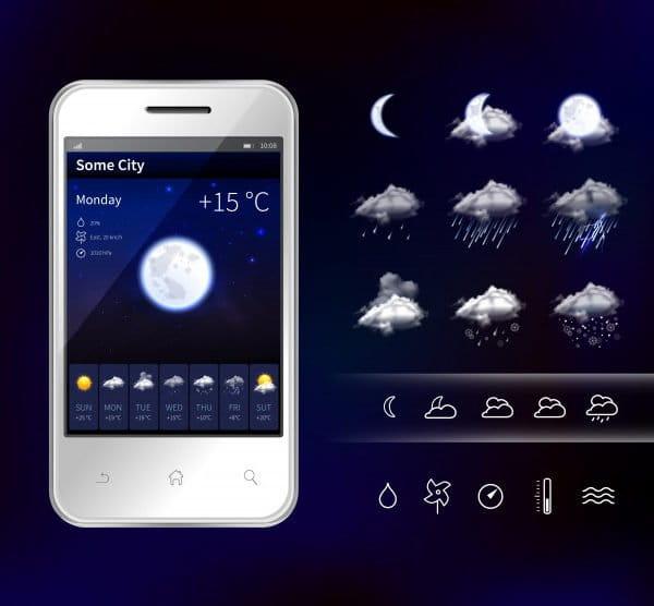 Smartphone mobile weather