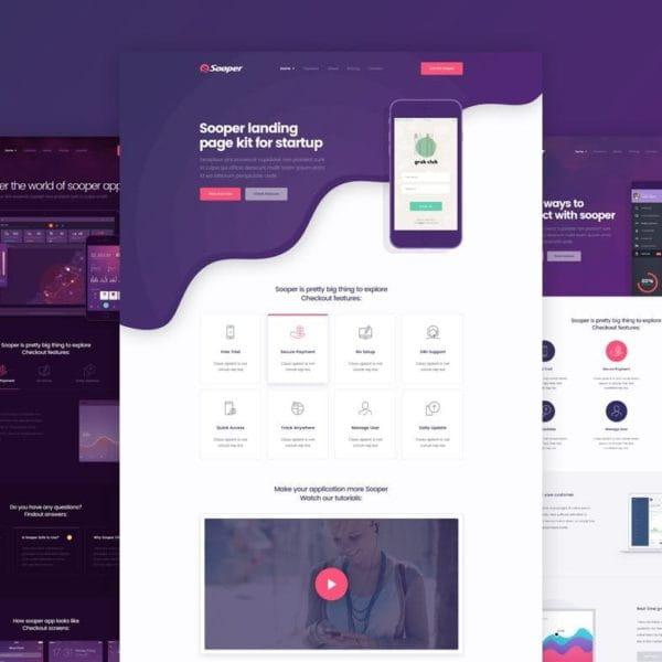 Sooper - App & Software Landing Page Template