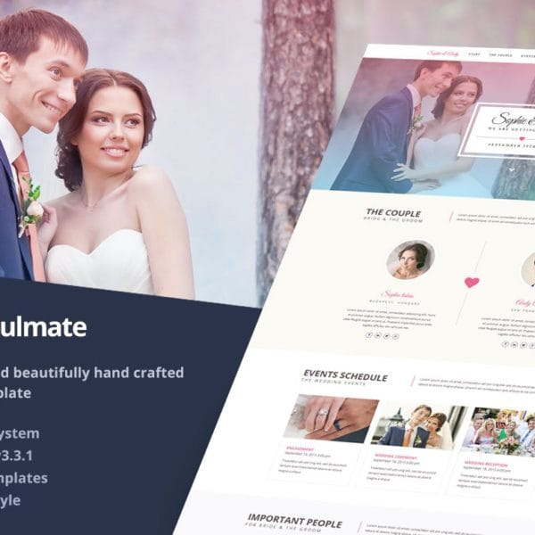 Soulmate - Responsive Bootstrap 3 Wedding Template