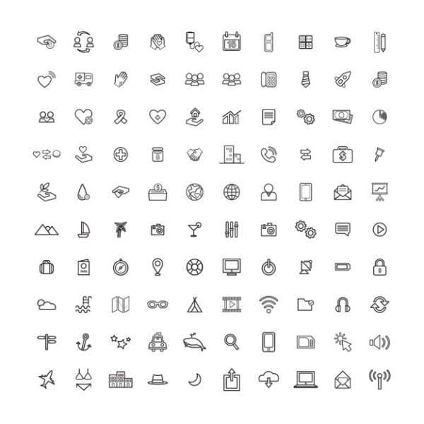 Spa treatments 4 flat icons