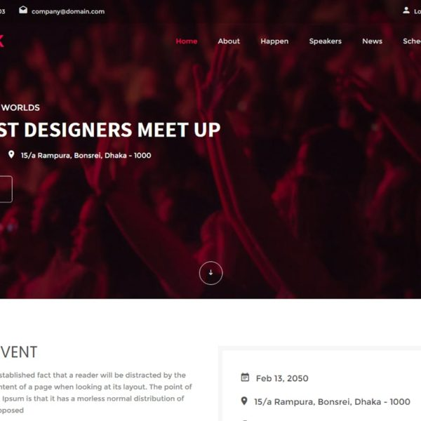 Sparrk – Event Bootstrap Template