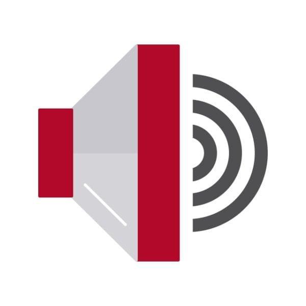 Speaker Icon Creative Design Template