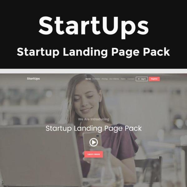 StartUps - Startup Landing Page