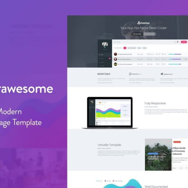Superawesome - Creative Multi-Purpose Landing Page