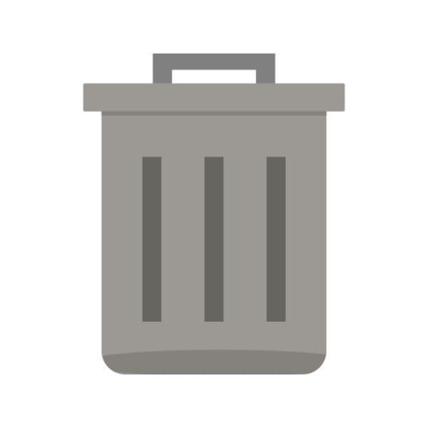 Trash Icon Creative Design Template (Turbo Premium Space)