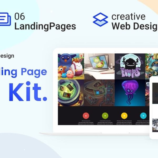 UI Kits Landing Pages & Web design Template