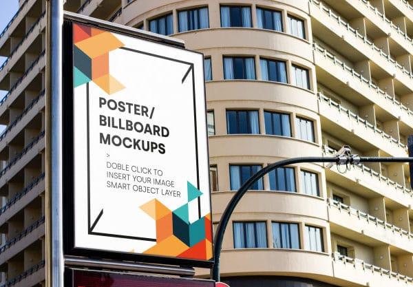 Urban billboard mockup